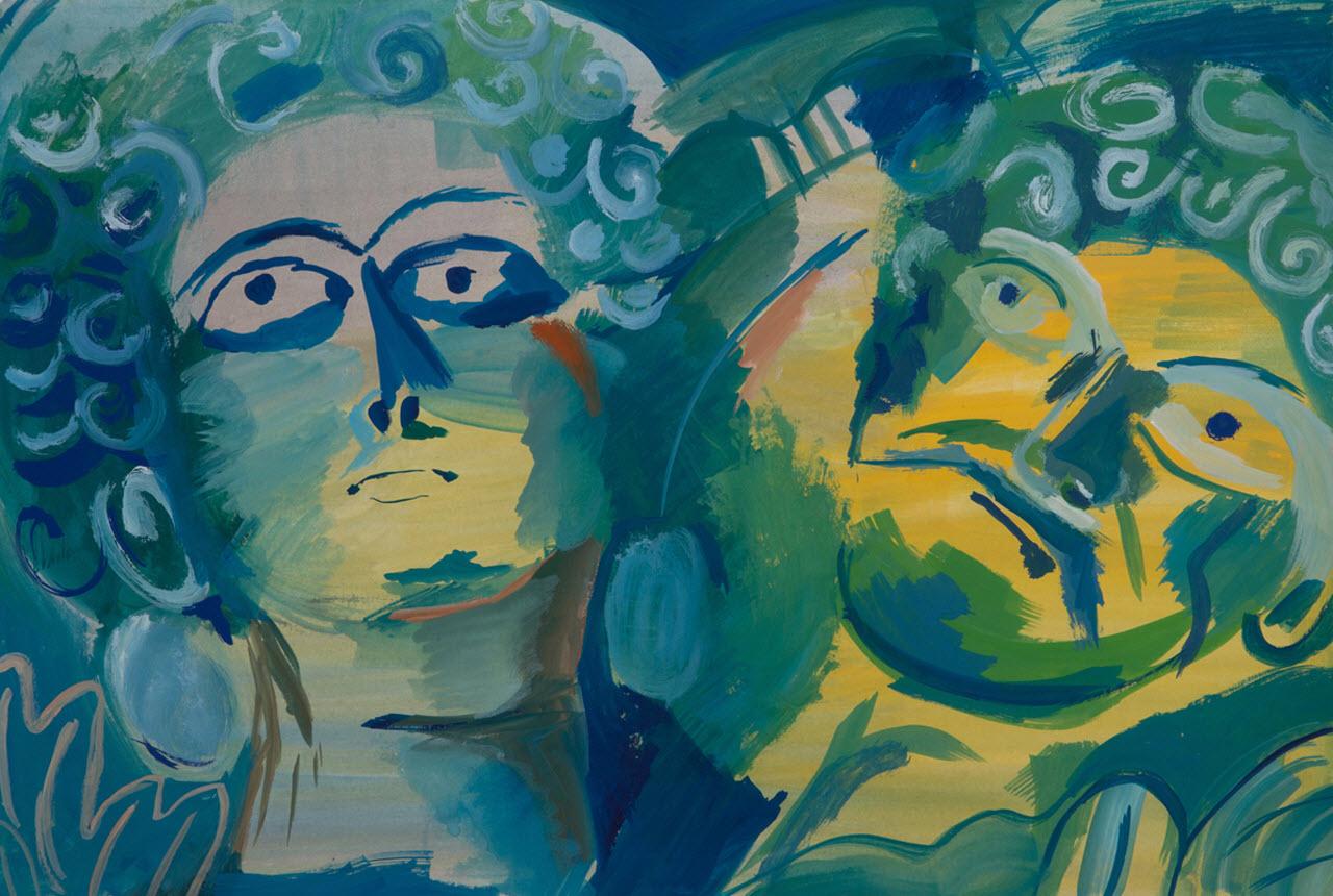 Hisham | Acrylic on Paper / 48x33 cm/ 2014