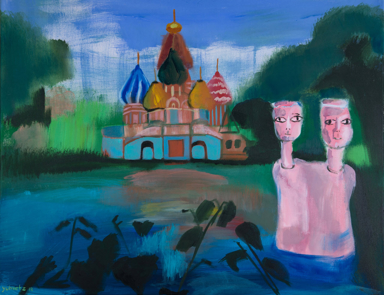 Twins | Acrylic on Canvas / 90x70cm / 2014