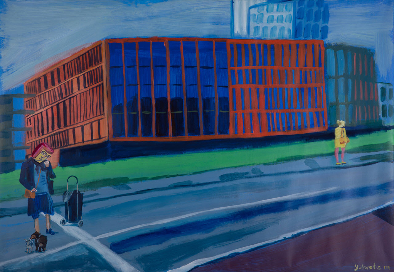 Lost and found in Malmo | Acrylic on paper / 100x70cm / 2014