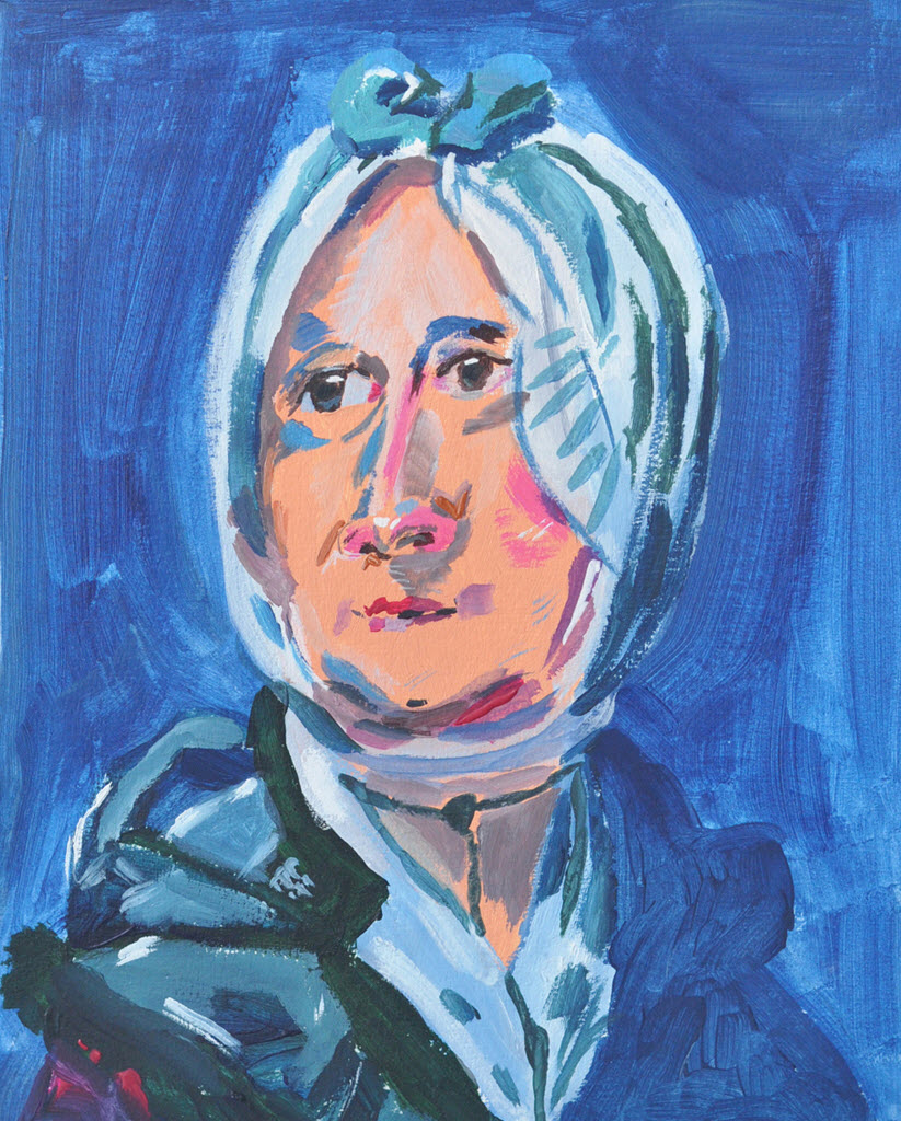 Old Masters Portraits | Acrylic on Paper / 24x29 cm / 2014