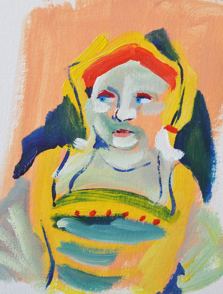 Old Masters Portraits | Acrylic on Paper / 15x18 cm / 2014