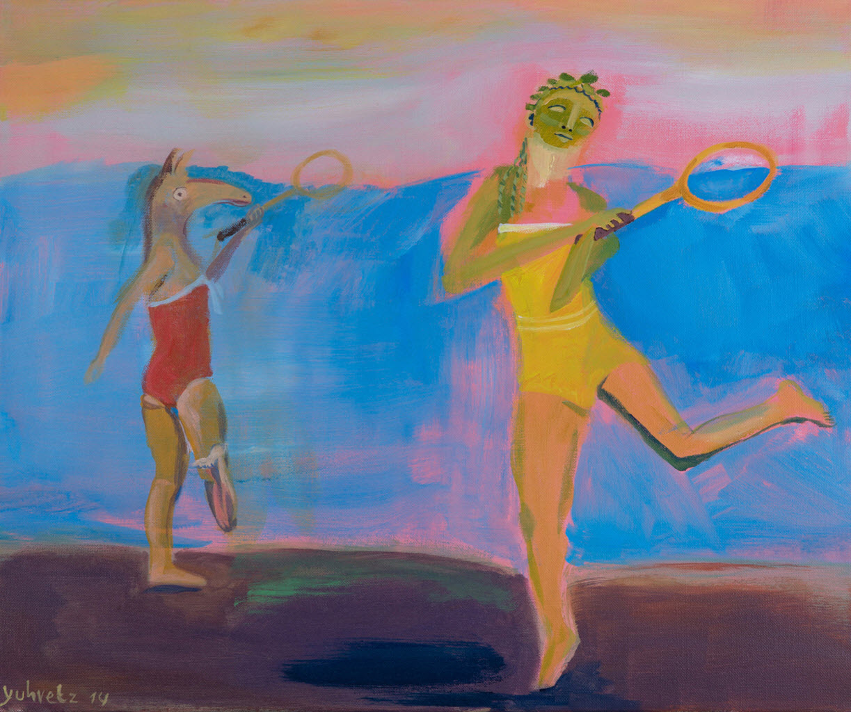 Playing In The Dead Sea | Acrylic on canvas / 60x50cm / 2014