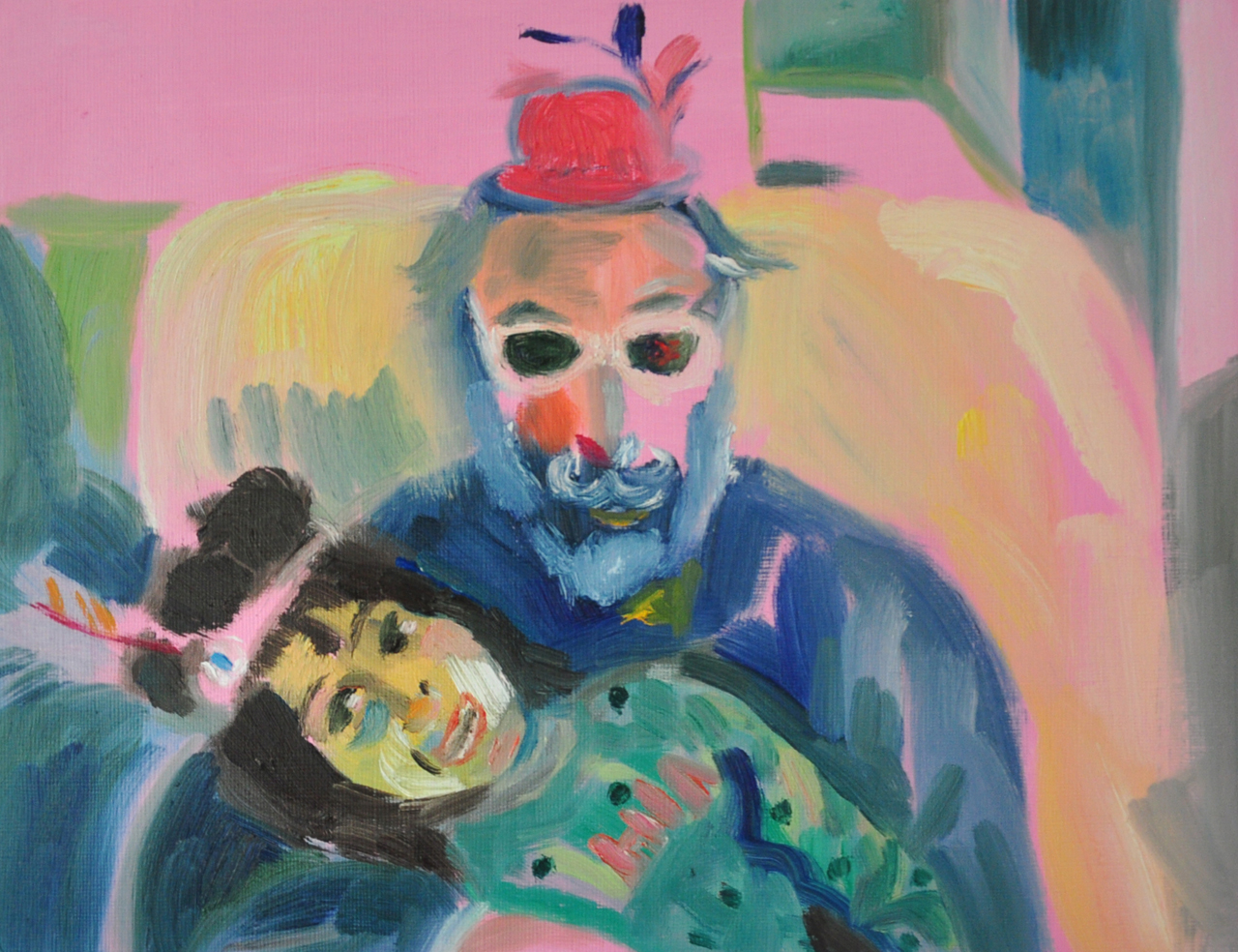 Dad and Yali   Oil on Paper / 31x23 cm / 2015