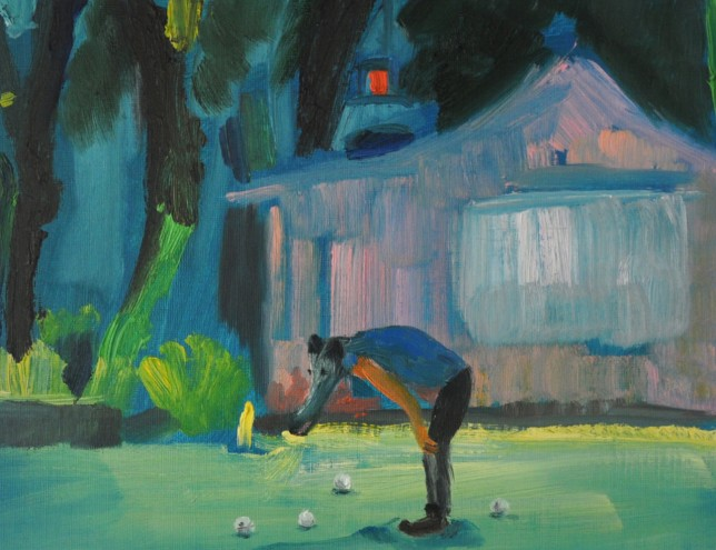 Playground with silver balls | Oil on Paper / 31x23 cm / 2015